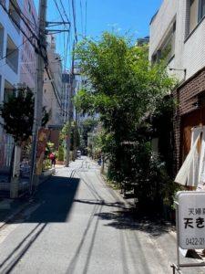 アレグリア吉祥寺店の前道路