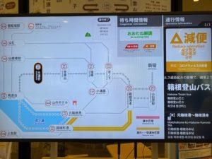 大涌谷箱根登山バス運行状況掲示板
