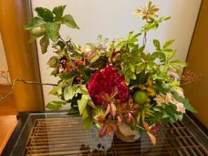 木曽路4入り口お花